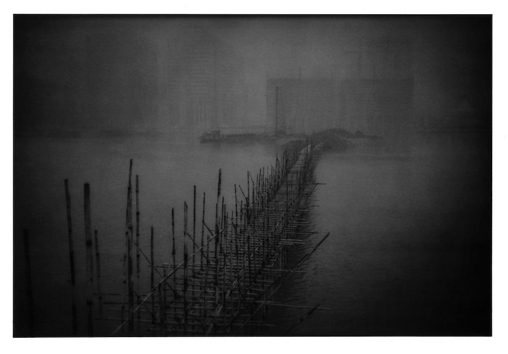 Bamboo bridge. Guangdong, Province, China.  1999