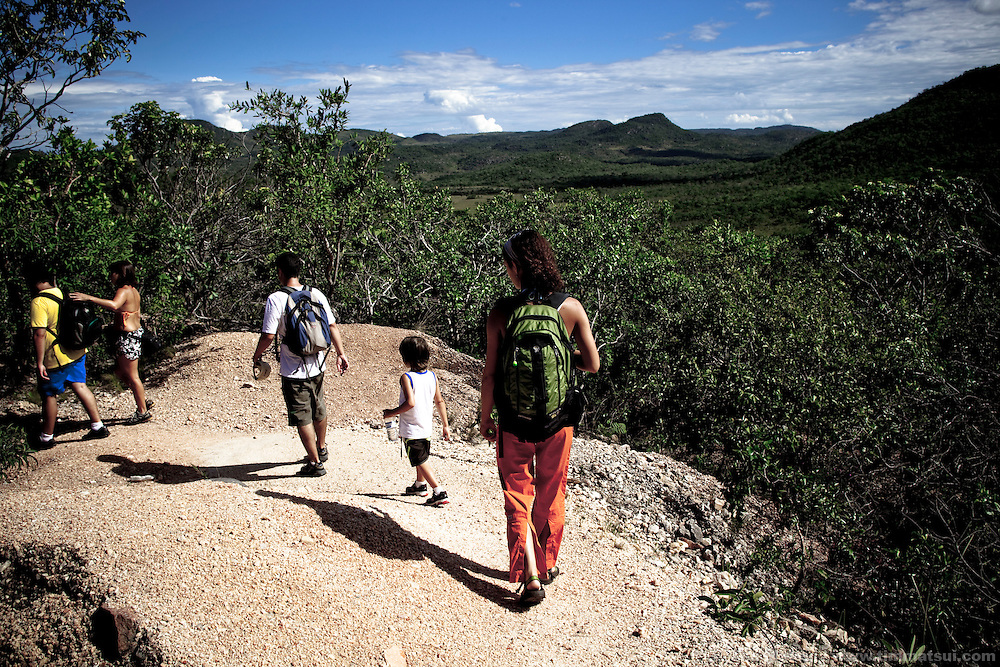 A guided hike through the Chapadas dos Veadeiros, a national park near Brasilia, Brazil.
