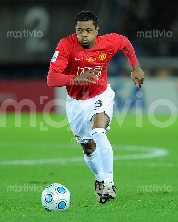 Fussball International FIFA Club WM Japan 2008     21.12.2008 Finale Liga de Quito - Manchester United Patrice Evra (ManU)