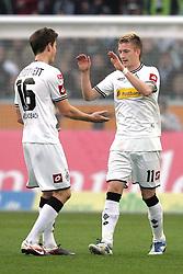 19.11.2011, BorussiaPark, Mönchengladbach, GER, 1.FBL, Borussia Mönchengladbach vs SV Werder Bremen, im BildTorjubel/ Jubel nach dem 2:0 durch Marco Reuss (Mönchengladbach #11) (R) mit Havard Nordtveit (Mönchengladbach #16) // during the 1.FBL, Borussia Mönchengladbach vs Werder Bremen on 2011/11/19, BorussiaPark, Mönchengladbach, Germany. EXPA Pictures © 2011, PhotoCredit: EXPA/ nph/ Mueller..***** ATTENTION - OUT OF GER, CRO *****