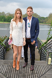 GRACE HODGE and her brother MAX HODGE at a party to launch the Taylor Morris Explorer Collection held at the Serpentine Lido, Hyde Park, London on 11th May 2016.