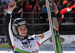 Robert Kranjec reacts when he placed third (SLO) at Flying Hill Individual in 4th day of 32nd World Cup Competition of FIS World Cup Ski Jumping Final in Planica, Slovenia, on March 22, 2009. (Photo by Vid Ponikvar / Sportida)