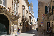 Street in the city centre in Lecce
