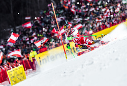 "29.01.2019, Planai, Schladming, AUT, FIS Weltcup Ski Alpin, Slalom, Herren, 1. Lauf, im Bild Marcel Hirscher (AUT) // Marcel Hirscher of Austria in action during his 1st run of men's Slalom ""the Nightrace"" of FIS ski alpine world cup at the Planai in Schladming, Austria on 2019/01/29. EXPA Pictures © 2019, PhotoCredit: EXPA/ JFK"