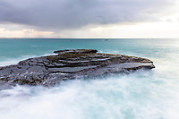 Wave break over intertidal flats at low tide, Arniston, Western Cape, South Africa