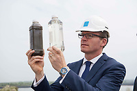 Repro Free:  Minister Simon Coveney was in Kinvara today to officially open the new wastewater treatment plant which was constructed following an investment of €5.1 million by Irish Water with the before and after treatment. Photo:Andrew Downes, xposure