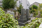 Tombstones in Kyoto cemetery, Japan