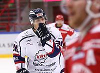 2019-10-16 | Ljungby, Sweden: Kallinge-Ronneby (20) Ludwig Wistén during the game between IF Troja / Ljungby and Kallinge / Ronneby IF at Ljungby Arena ( Photo by: Fredrik Sten | Swe Press Photo )<br /> <br /> Keywords: Ljungby, Icehockey, HockeyEttan, Ljungby Arena, IF Troja / Ljungby, Kallinge / Ronneby IF, fstk191016, ATG HockeyEttan