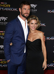 Thor: Ragnarok Premiere at El Capitan Theatre in Hollywood, California on 10/10/17. 10 Oct 2017 Pictured: Chris Hemsworth, Elsa Pataky. Photo credit: River / MEGA TheMegaAgency.com +1 888 505 6342