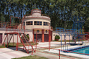 The Piscina-Praia Paraiso lido pool (1932) in the spa resort of Curia, Portugal.
