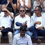 Roma 18/05/2018 Foro Italico <br /> Internazionali BNL d'Italia 2018<br /> Roberto Mancini neo ct della nazionale italiana di rugby presente all'incontro tra Rafael Nadal e Fabio Fognini