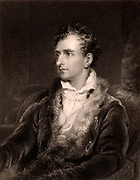 Antonio Canova (1757-1822) Italian sculptor.  Engraving after the portrait by Thomas Lawrence  from 'The Gallery of Portraits' Vol III by Charles Knight (London, 1834).