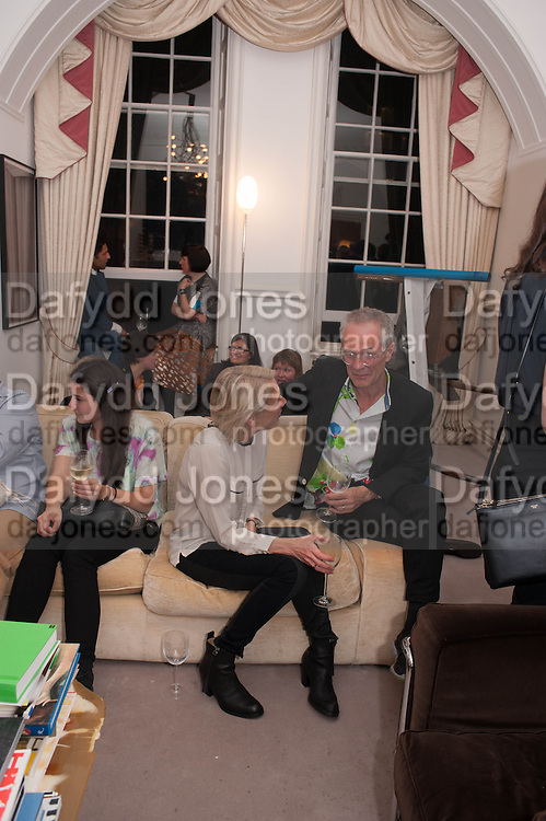 EMILY KING; DAVID BACHELOR, Valeria Napoleone hosts a dinner at her apartment e to celebrate the publication of her book  Valeria Napoleone's Catalogue of Exquisite Recipes. Palace Green. Kensington. London. 28 September 2012.