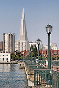 A view form a pier looking towards downtown San Francisco, California.