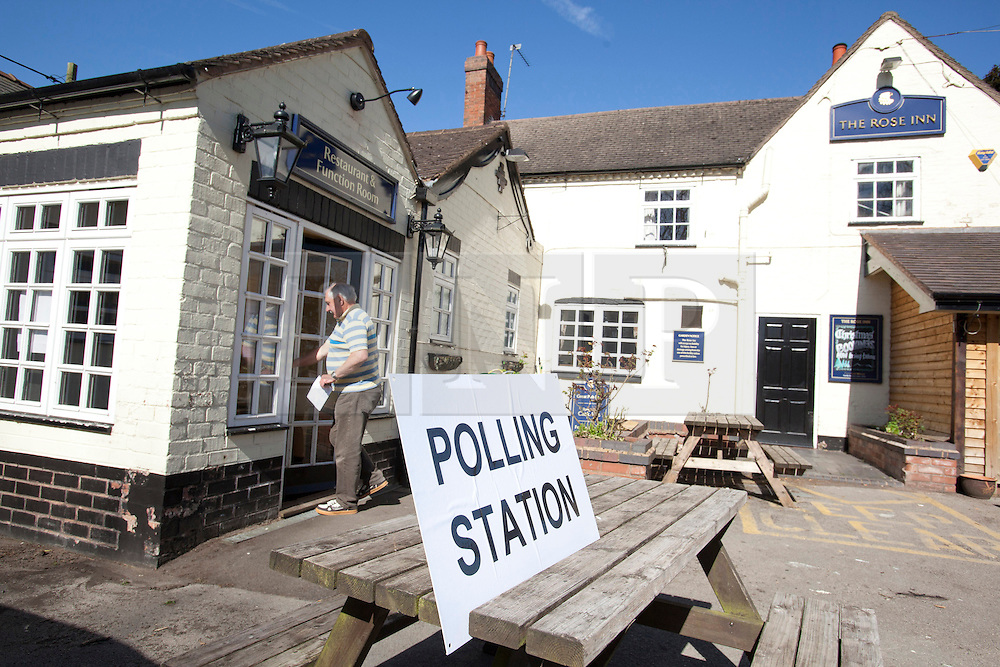 © Licensed to London News Pictures. 2/5/2013. Baxterley, Warwickshire. Probably one of the most pretty places to cast your vote, the Rose Inn, Baxterley, Warwickshire. Photo credit : Dave Warren/LNP