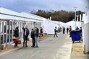 Nederland, the Netherlands, Nijmegen, 2-3-2016Kamp, tentenkamp Heumensoord, de tijdelijke noodopvang, azc, van het COA. Plaats voor 3000 asielzoekers. Rapport van de Ombudsman kwalificeert de opvang als inhumaan, een inhumane opvang. FOTO: FLIP FRANSSEN