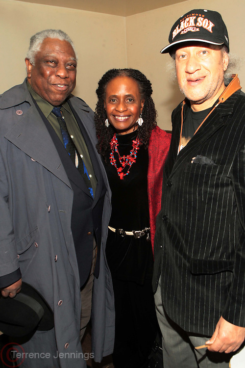25 March 2011- New York, NY-  l to r: Woody King, Dr. Brenda Greene, and Gary Bartz backstage at The Annual National Black Writers Benefit Concert Produced by Jill Newman Productions held at Highline Ballroom on March 25, 2011 in New York City. Photo Credit: Terrence Jennings