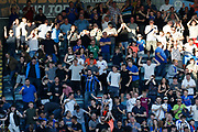 Rochdale fans celebrate the goal scored by Joe Thompson of Rochdale during the EFL Sky Bet League 1 match between Rochdale and Charlton Athletic at Spotland, Rochdale, England on 5 May 2018. Picture by Paul Thompson.