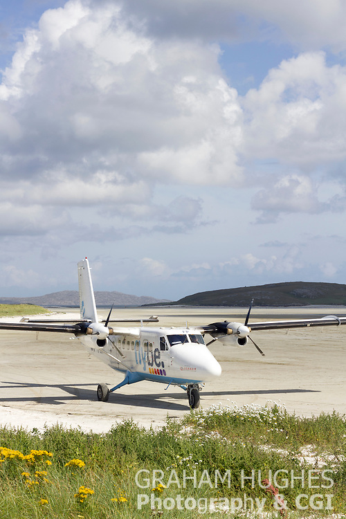 Isle Of Barra Airport With Light Plane