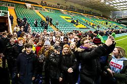 Aaron Hinkley, Kai Owen, Richard Capstick and Joe Heyes of England U20 meet fans  - Mandatory by-line: Robbie Stephenson/JMP - 15/03/2019 - RUGBY - Franklin's Gardens - Northampton, England - England U20 v Scotland U20 - Six Nations U20