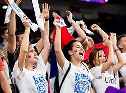 Supporters of Serbia during basketball match between National Teams of Russia and Serbia at Day 16 in Semifinal of the FIBA EuroBasket 2017 at Sinan Erdem Dome in Istanbul, Turkey on September 15, 2017. Photo by Vid Ponikvar / Sportida