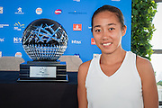 January 07, 2017: China's top ranked player Zhang Shuai pictured following the draw ceremony for the Apia International Sydney 2017 at Sydney Olympic Park Tennis Centre. (Photo by Hugh Peterswald/Icon Sportswire)