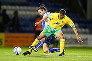 Gillingham - Tuesday October 6th, 2009:  Gillingham's Adam Miller and Norwich's Tom Adeyemi in action during the Johnstones Paint Trophy R2S match at the KRBS Priestfield, Gillingham, Kent. (Pic by Paul Chesterton/Focus Images)