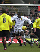 28/02/2004  -  Nationwide Div 1 Watford v Wimbledon.Wimbledon's Wayne Gray, back to goal, controls the ball to lay of a pass.
