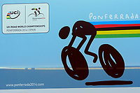 Illustration Logo during the UCI Road World Championships 2014, in Ponferrada,  Spain, Time Trial Men Elite,  Ponferrada - Ponferrada (47Km), on September 24, 2014. Photo Tim de Waele / DPPI
