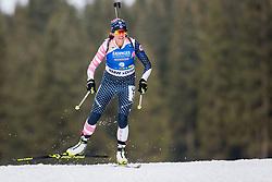 Susan Dunklee (USA) during Women 15km Individual at day 5 of IBU Biathlon World Cup 2018/19 Pokljuka, on December 6, 2018 in Rudno polje, Pokljuka, Pokljuka, Slovenia. Photo by Ziga Zupan / Sportida