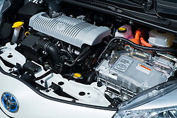Modern hybrid engine in new Toyota Yaris hybrid powered car