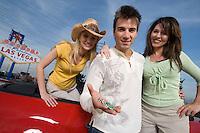 Friends having fun in Las Vegas, Nevada, USA