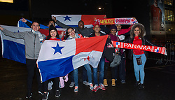 CARDIFF, WALES - Tuesday, November 14, 2017: Panama fans react before entering the Stadium for the international friendly match between Wales and Panama at the Cardiff City Stadium. (Pic by Peter Powell/Propaganda)