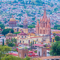 SAN MIGUEL DE ALLENDE , MEXICO - MAY 31 : City view of San Miguel de Allende , Mexico on May 31 2015. The historic city San Miguel de Allende is UNESCO World Heritage Site since 2008.