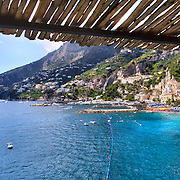 Amalfi, panoramic photograph of the town and the beach