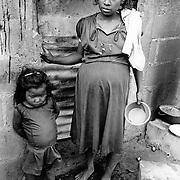 La Sopresa coffee farm , Matagalpa, Nicaragua November 27th 1984, burnt out after a contra attack.
