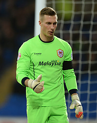 Cardiff City's Simon Moore Photo mandatory by-line: Alex James/JMP - Mobile: 07966 386802 - 17/03/2015 - SPORT - Football - Cardiff - Cardiff City Stadium - Cardiff City v AFC Bournemouth - Sky Bet Championship