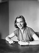 23/05/1956<br /> 05/23/1956<br /> 23 May 1956<br /> <br /> Jill Robbins, Female Editor of 'Trinity News' -