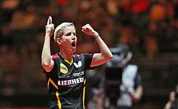 02.06.2017, Messe, D&uuml;sseldorf, GER, Liebherr Tischtennis WM, im Bild Kristin Silbereisen (GER) jubelt // during the Liebherr World Table Tennis Championships 2017 at the Messe in D&uuml;sseldorf, Germany on 2017/06/02. EXPA Pictures &copy; 2017, PhotoCredit: EXPA/ Eibner-Pressefoto/ Wuest<br /> <br /> *****ATTENTION - OUT of GER*****