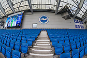 General view of the American Express Community Stadium ahead of the Premier League match between Brighton and Hove Albion and Everton at the American Express Community Stadium, Brighton and Hove, England on 26 October 2019.