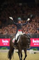 Dujardin Charlotte, (GBR), Uthopia<br /> Grand Prix Freestyle <br /> Reem Acra FEI World Cup Dressage <br /> London International Horse Show<br /> © Hippo Foto - Jon Stroud