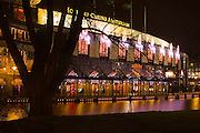 Holland Casino Amsterdam, near Leidseplein and the Vondelpark. Long exposure, nighttime shot.