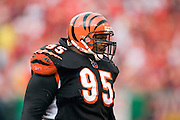 KANSAS CITY, MO - SEPTEMBER 10:  Defensive tackle Sam Adams #95 of the Cincinnati Bengals during a game against the Kansas City Chiefs on September 10, 2006 at Arrowhead Stadium in Kansas City, Missouri.  The Bengals won 23 to 10.  (Photo by Wesley Hitt/Getty Images)***Local Caption***Sam Adams
