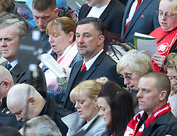 15.04.2013, Anfield Road, Liverpool, ENG, PL, Liverpool FC, 24. Jahrestag der Hillsborough Katastrophe, im Bild Former Liverpool player John Aldridge during the 24th Anniversary Hillsborough Service at Anfield, Liverpool, United Kingdom on 2013/04/15. EXPA Pictures © 2013, PhotoCredit: EXPA/ Propagandaphoto/ David Rawcliffe..***** ATTENTION - OUT OF ENG, GBR, UK *****