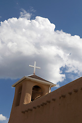 detail of The San Francisco de Asis Church in Tao, New Mexico