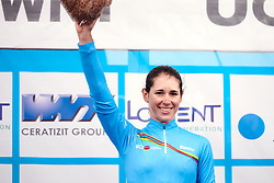 Marta Cavalli (ITA) returns to the UCI Women's WorldTour Youth jersey at GP de Plouay - Lorient Agglomération Trophée WNT, a 128 km road race in Plouay, France on August 31, 2019. Photo by Sean Robinson/velofocus.com