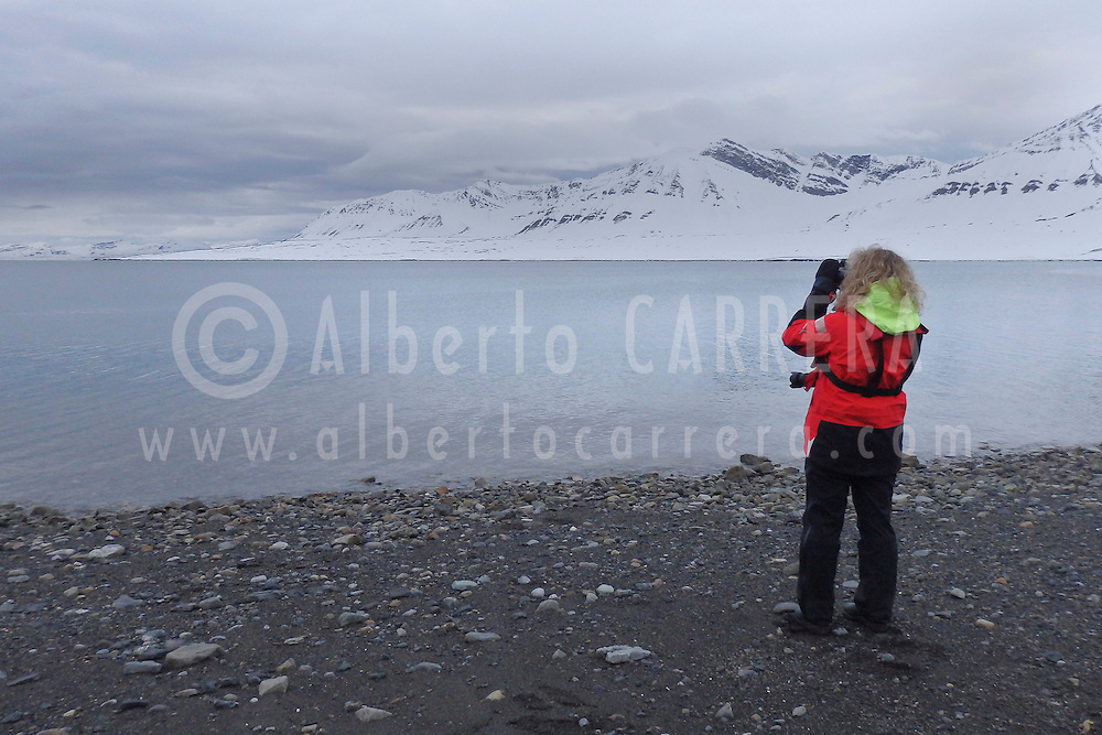 Alberto Carrera, Expedition people, Billefjord, Arctic, Spitsbergen, Svalbard, Norway, Europe