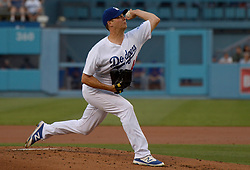 June 21, 2017 - Los Angeles, California, U.S. - Los Angeles Dodgers starting pitcher Rich Hill throws to the plate against the New York Mets in the first inning of a Major League baseball game at Dodger Stadium on Wednesday, June 21, 2017 in Los Angeles. Los Angeles. (Photo by Keith Birmingham, Pasadena Star-News/SCNG) (Credit Image: © San Gabriel Valley Tribune via ZUMA Wire)