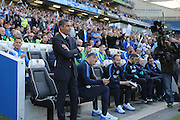 Brighton Manager, Chris Hughton during the Sky Bet Championship play-off second leg match between Brighton and Hove Albion and Sheffield Wednesday at the American Express Community Stadium, Brighton and Hove, England on 16 May 2016.