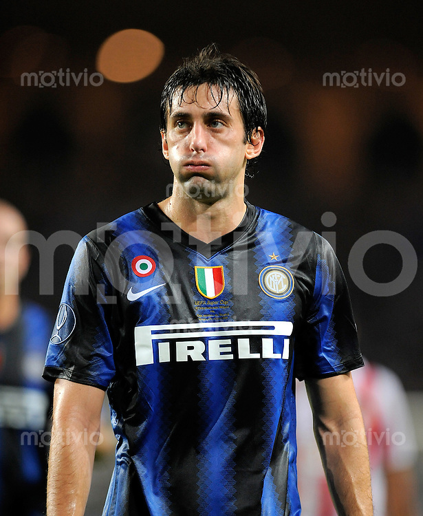 FUSSBALL INTERNATIONAL   UEFA SUPERCUP    SAISON 2010/2011    Inter Mailand - Atletico Madrid      28.08.2010 Diego Milito  (Inter)